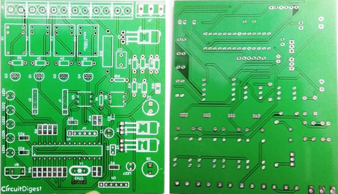 PCB boards for IR remote controlled home automation project