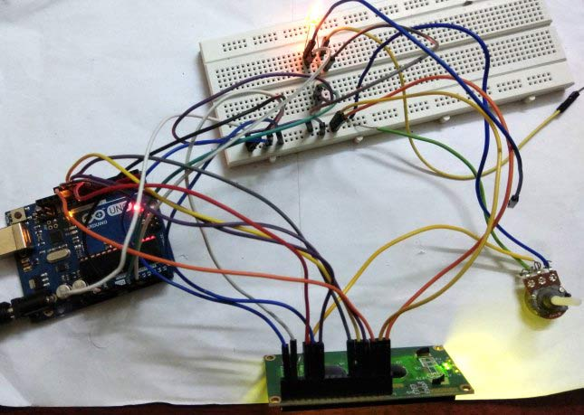 meauring current using arduino digital ammeter