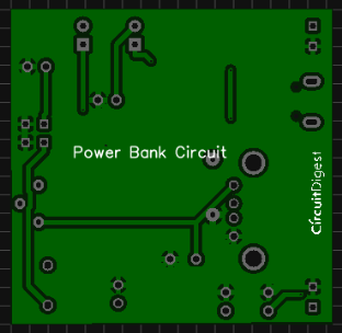 photo view power bank pcb circuit for charging mobiles