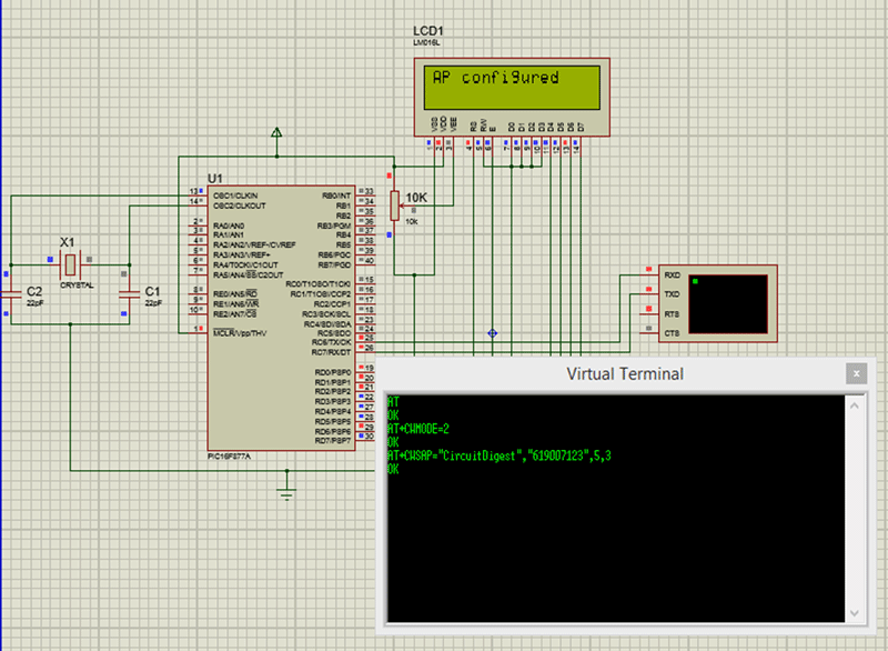 Interfacing PIC Microcontroller with ESP8266 WiFi Module