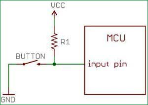 pull-up-resistor-with-push-button-with-PIC-Microcontroller