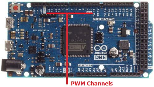 pwm pins in arduino due