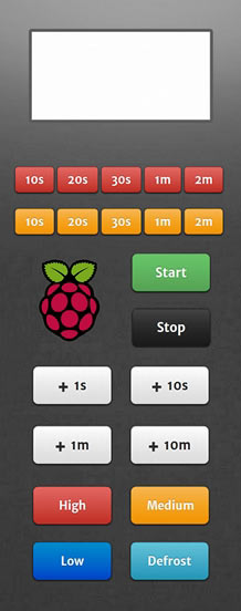 raspberry pi microwave touchpad