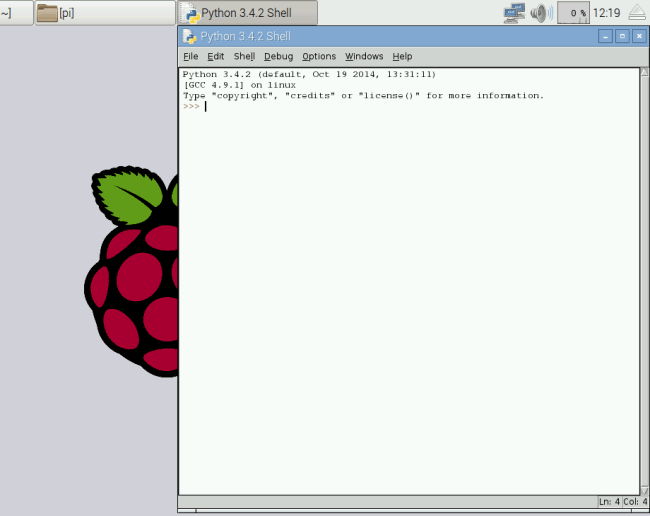 Image result for python shell window in raspberry pi