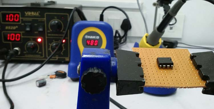 12V to 5V Buck Converter Circuit using MC34063
