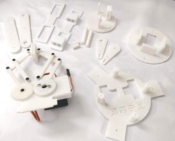 3D printed parts of Robotic arm