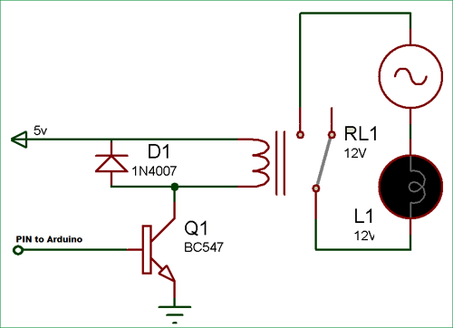 Arduino Relay Control Tutorial with Code and Circuit Diagram on arduino relay example, arduino 110v relay, arduino transistor relay, arduino solid state relay, arduino relay tutorial, arduino 12v relay, arduino 120v relay, arduino relay diagram, arduino 24v relay,