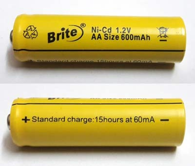 600mAh Ni Cd battery