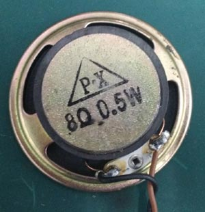 8 Ohms 0.5 Watt Speaker Bottom view
