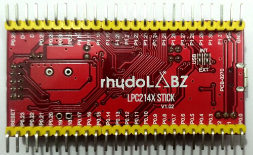 ARM7 Stick LPC2148 Board Bottom view