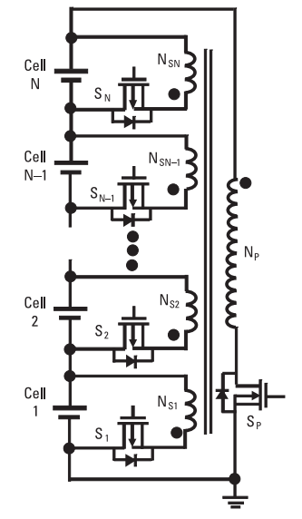 Active Cell Balancing using Flyback based Inductive Converter