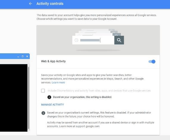 Activity Controls Google Assistant API