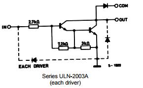 Her sürücü için gerçek Darlington dizisi bağlantısı gösterilir