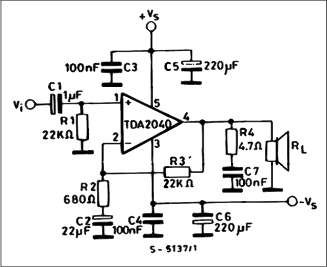 Amplifier with Split Power Supply