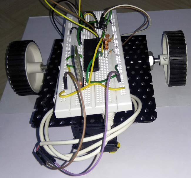 Android Controlled Robot in action