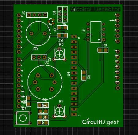 Arduino Alcohol Detector Circuit Board