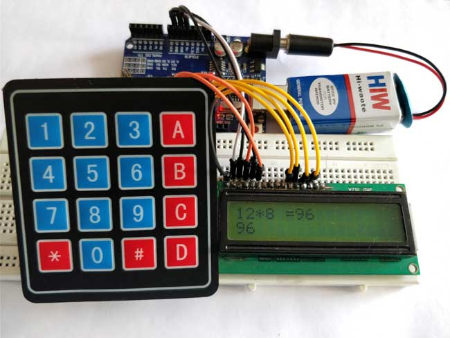 Arduino calculator using keypad