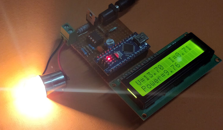 Arduino Wattmeter in action