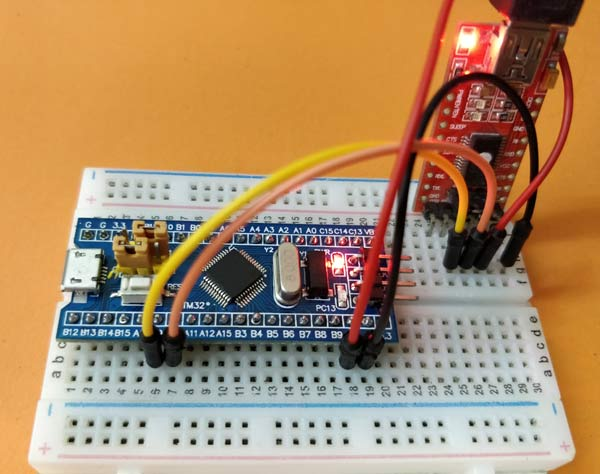 Blinking LED using STM32