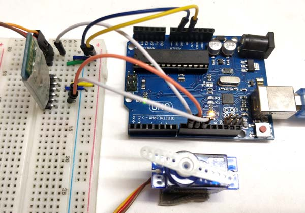 Bluetooth Controlled Servo Motor using Arduino