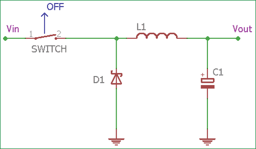Buck Converter Circuit when switch is OFF