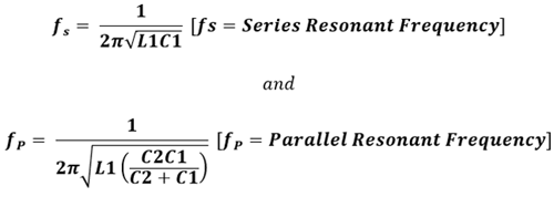 Calculating Series and Parallel Resonant frequency