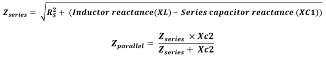 Calculating the series impedance and parallel impedance