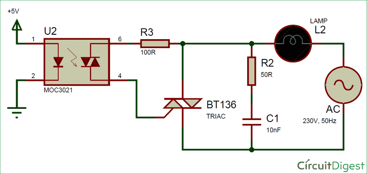 Traic Switch To Control High Voltage Devices Circuit Diagram ... on