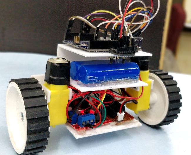 Circuit Hardware for DIY Self Balancing Robot using Arduino