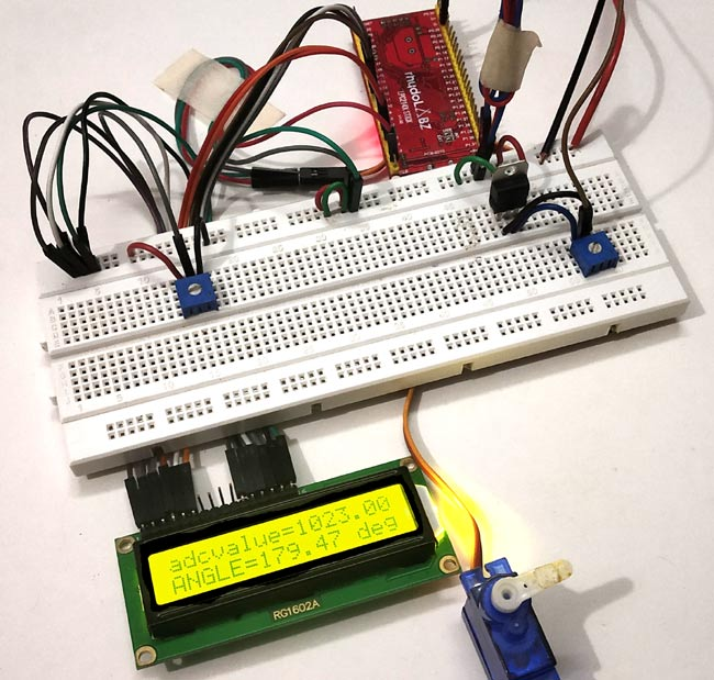 Circuit Hardware for Interfacing Servo Motor with ARM7-LPC2148
