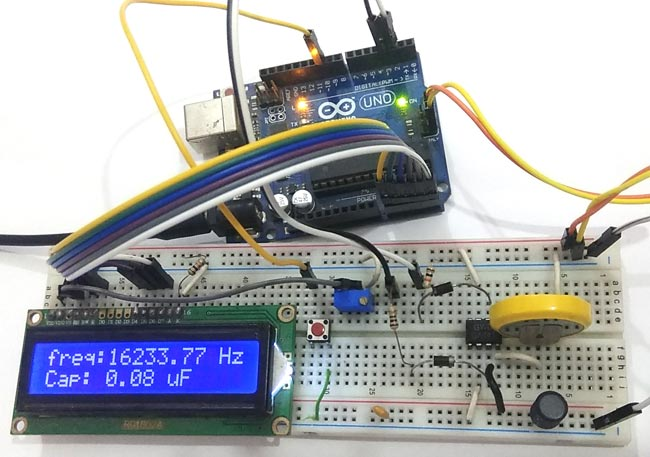 Circuit Hardware for LC Meter Using Arduino