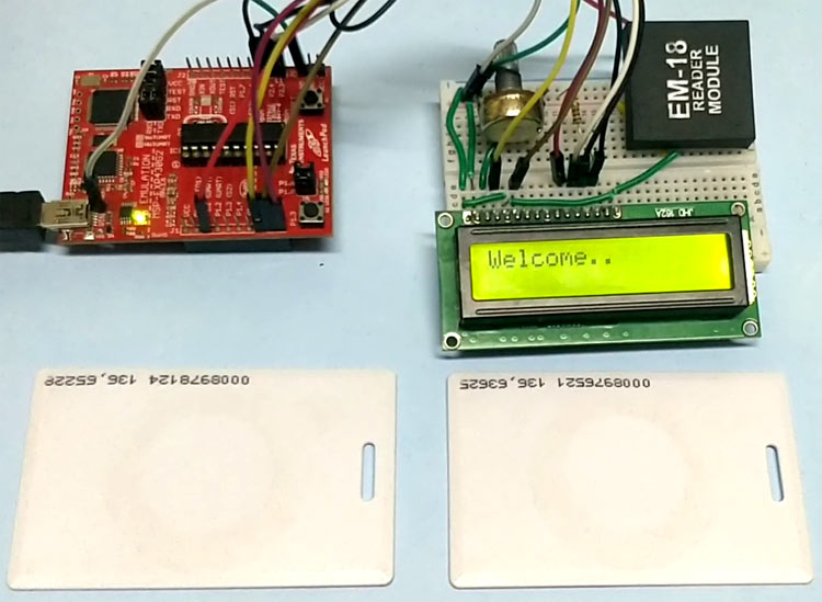 Circuit Hardware for RFID interfacing with MSP430 Launchpad