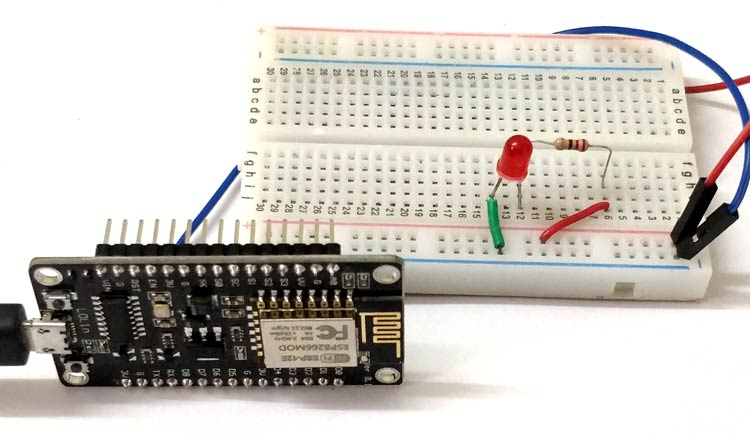 Circuit Hardware for IoT based Alexa Voice Controlled LED using Raspberry Pi and ESP12