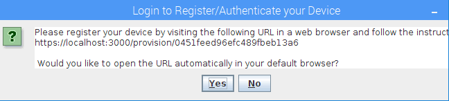 Click yes form device authentication