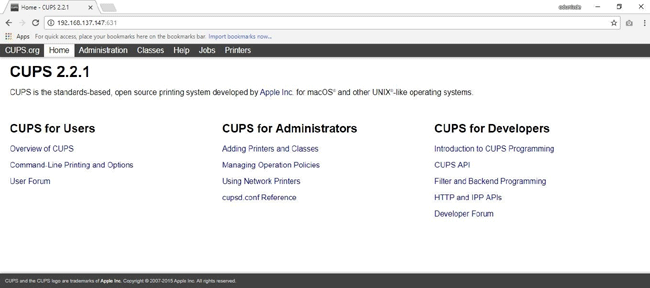 Common Unix Printing System CUPS homepage