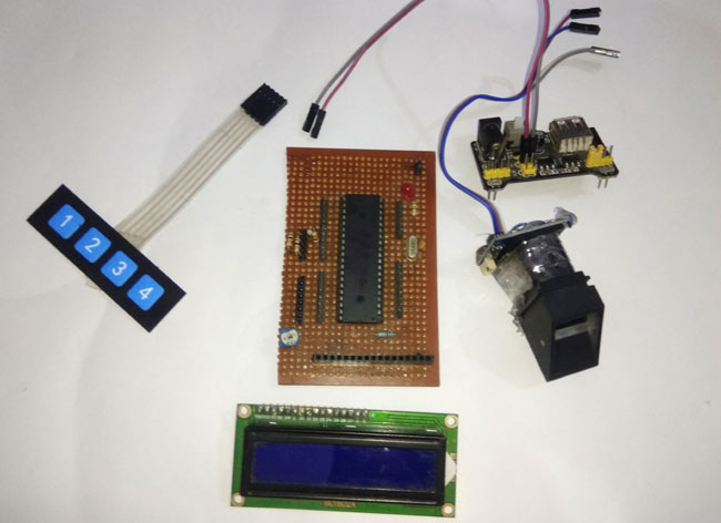 Components Required for Interfacing Fingerprint Sensor with PIC Microcontroller