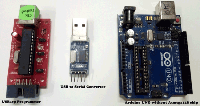 Components needed for Arduino Bootloader uploaded Atmega 28IC