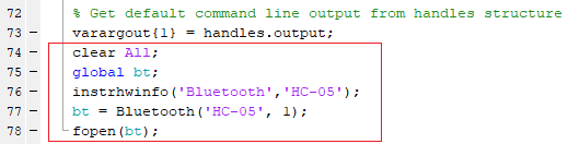 Connecting MATLAB to HC-05 for Sending-Data using MATLAB GUI