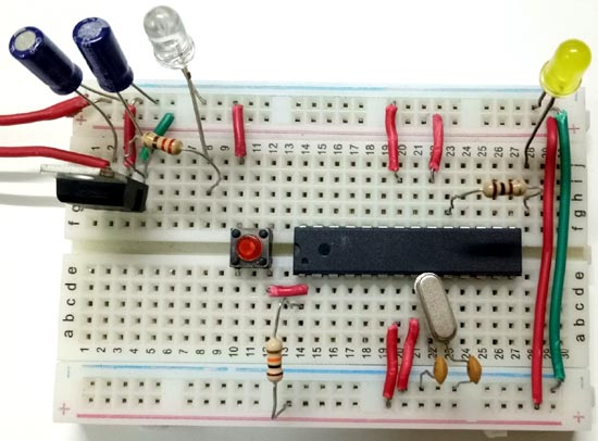 Connecting Power Supply and Microcontroller Circuit or Breadboard Based Arduino Board