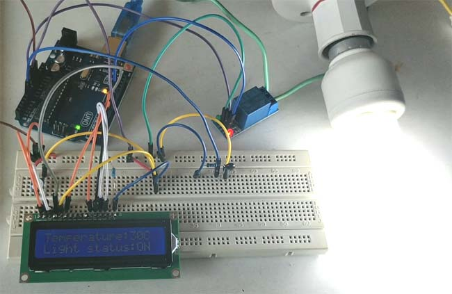 Control Relay using Arduino based on Temperature working