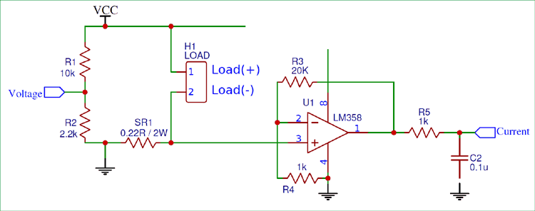 Converting Current into voltage value for microcontroller