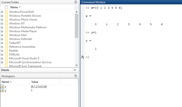 Creating Variable in MATLAB