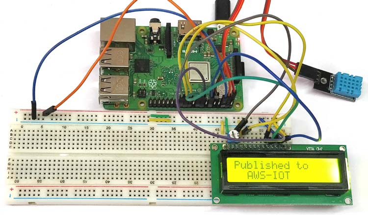 DHT11 sensor with Raspberry-Pi for AWS IoT