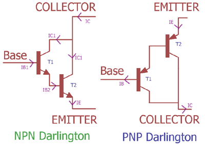 Darlington Transistor Pair Current Gain Calculation