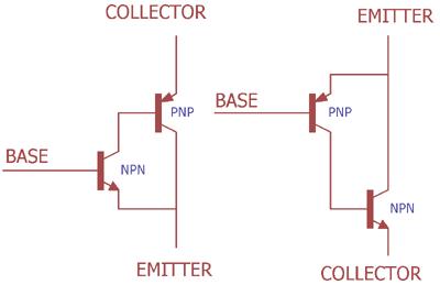 Darlington transistör Push-Pull konfigürasyonu