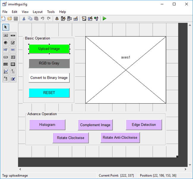 Designing MATLAB GUI for mage Processing