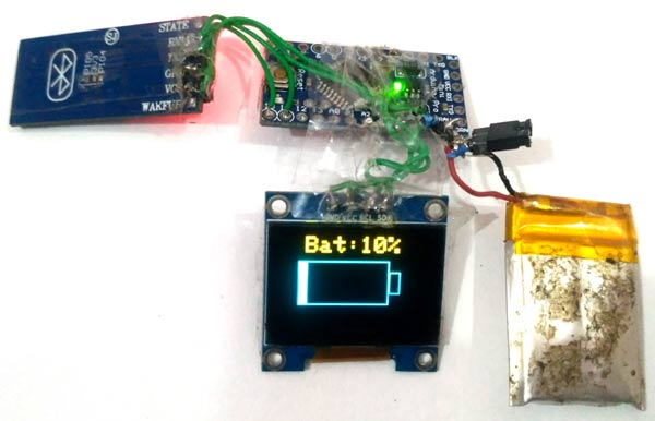 Displaying Battery on Arduino based OLED Smart Watch