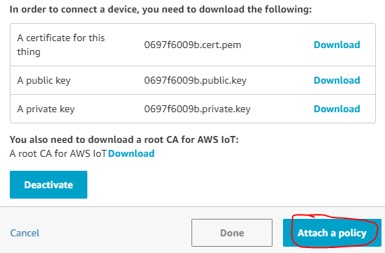 Download and save the certificates