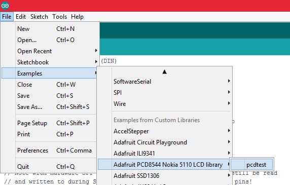 Example for pcdtest in arduino library
