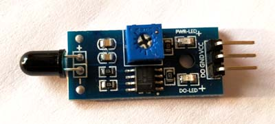Fire or flame sensor module